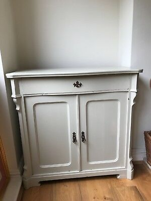 Antique shabby chic painted good condition Serpentine cabinet