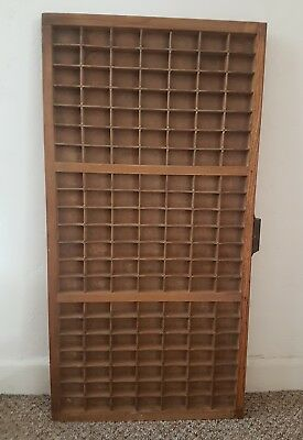 Vintage Printing Tray Display Case Type face Letterpress Drawer Cabinet Wooden