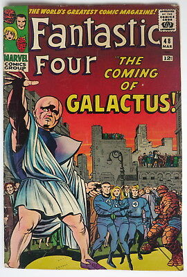Fantastic Four #48 1st Galactus, The Watcher, Silver Surfer  F/VF Super Key!