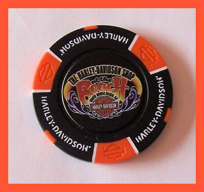 Hd North Myrtle Beach Sc Black Orange Harley Davidson Dealer Chip