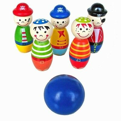 Toys for Children Bowling Ball Wood Shape Fun for Kids Game Y1W8