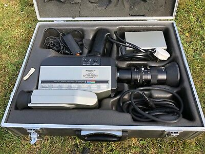 Vintage HITACHI COLOR VIDEO CAMERA VK-C500 - 1980s With Case Cables And Charger
