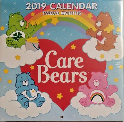 """Care Bears 2019 Wall Calendar 12 Month NEW SEALED 10"""" X 20"""""""
