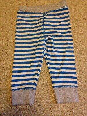 Mothercare 100% Cotton Blue Striped Leggings Trousers 9-12 Months