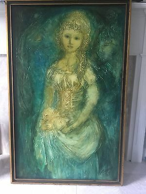 "Josephine Jerome Sands "" Eve "" Oil Painting Signed"