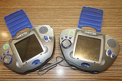 2 x Leapster Leap Frog groß blau-silber . Fehlerware