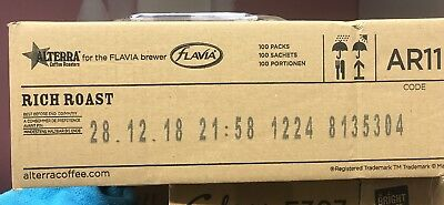 Flavia Alterra rich roast vending coffee sachets full sealed box