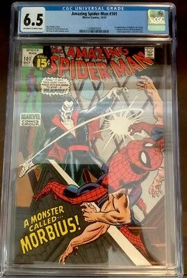 Amazing Spider-Man #101 CGC 6.5 FN+ OW-W Pages 1st appearance of Morbius