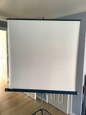 tripod extending projector screen used in good condition