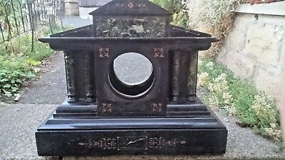 large Victorian marble onyx mantle clock spares or repairs