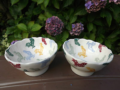 RARE Emma Bridgewater Pair of Rooster Bowls for Howdens Joinery Fully Stamped