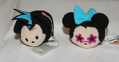 New Disney Tsum Tsum Plush Rockstar Minnie Mouse Punk Rocker Mickey Music Band
