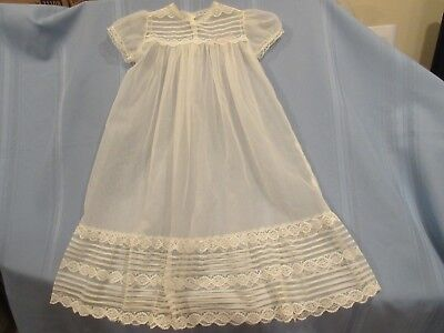 vintage baby/ doll dress, sheer gown w/slip, for antique doll or christening