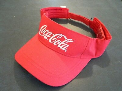 Nwt Coca Cola Sun Visor Cap Red Hat Recycled Coke Bottle Campaign