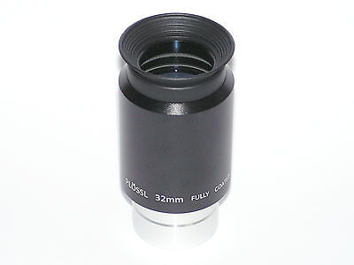 """1.25"""" 32mm fully coated plossl telescope eyepiece lens with 1.25"""" filter thread"""