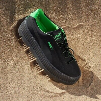 new product 1d2ca da9c2 PUMA FENTY BY Rihanna Suede Cleated Creeper Sneakers - Brown ...