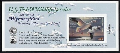 TDStamps: US Federal Duck Stamp Scott#RW70A $15.00 Mint NH Self-Adhesive