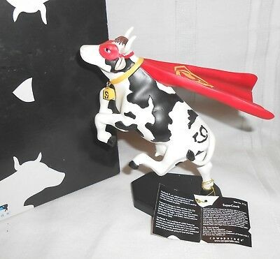 2004 Westland Giftware Cow Parade Resin Super Cow Supercow #7712 in Box w/ Tag