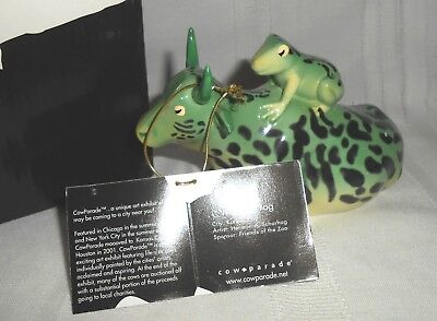 2002 Westland Giftware Cow Parade Ceramic Mother Frog #9207 in Box with Tag