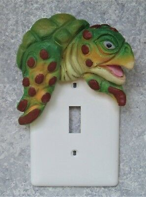 Tropical Sea Turtle Wall Switch Sculpture handmade wildlife décor CritterSwitch