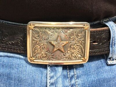 Vogt Silversmiths, Solid Sterling Silver Buckle, Hand Crafted, Hand Engraved