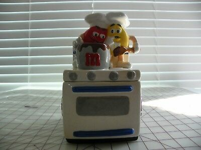 M&M Ceramic Oven Candy Char with red and yellow