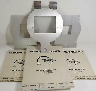 """SIMMON OMEGA 4x5 Glass 423-327 Negative Carrier + 2-1/4 x 3-1/4"""" + 2-1/4"""""""