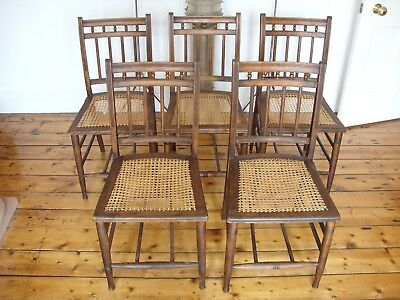 5 Antique Dining Chairs, c.1900, excellent condition