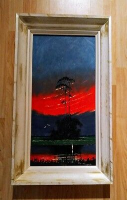 "John Maynor 12"" x 24"" Painting, Original Florida Highwaymen (Deceased)"