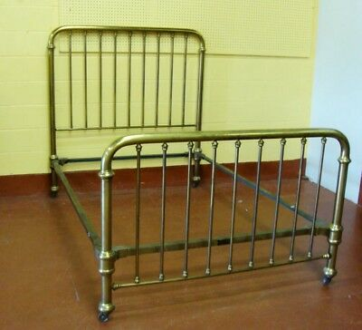antique brass bed-full sized. Good condition all original