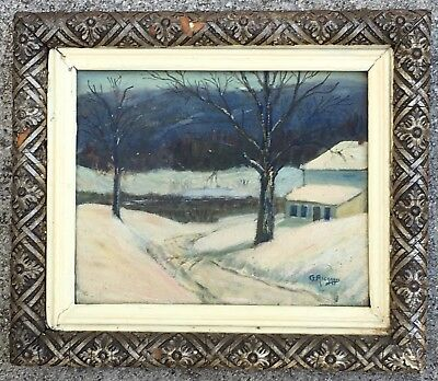 Vermont Impressionist Landscape Oil Painting Listed Artist George Richards 1930s