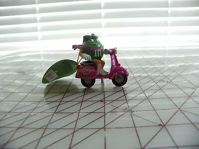 M&M Green on a pink scooter Christmas Holiday Ornaments by Kurt S. Adler 2007