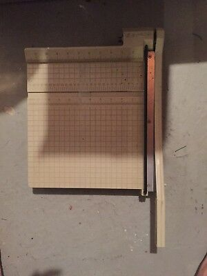 "X-ACTO Guillotine Style Paper Cutter 12"" x 12"" Vintage Table Top Trimmer"
