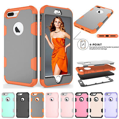 For iPhone XS XR 6 7 8 Plus Hybrid Heavy Duty Armor 360° Shockproof Protect Case