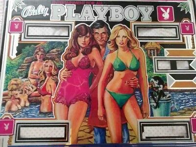 Bally Playboy Original Pinball Machine BackGlass (SEE PHOTOS) GLASS