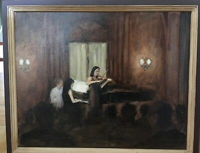"Beatrice McLaughlin - Oil on Canvas Painting – ""The Recital at Curtis"""