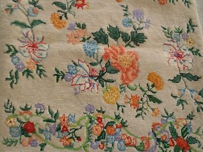 """Vintage wool Embroidery from the Metropolitan Museum of Art  15"""" x 15"""""""