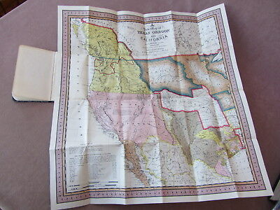 1846 Mitchell's New Map of Texas Oregon + California with the Accompaniment Book