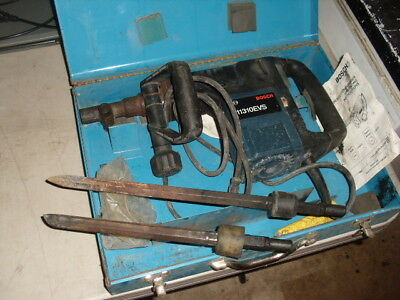 Bosch 10310 Evs Electric Demolition Hammer Drill With 2 Chisels With Its Case