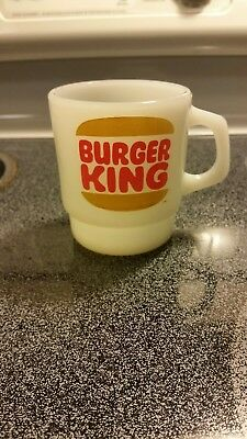 Vintage Anchor Hocking Fire King Burger King Coffee Cup VERY RARE 1960's