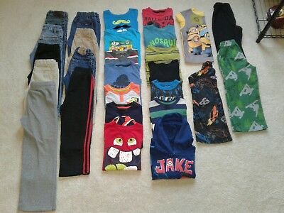 Boys 27 Pce Fall/Winter Jeans/Long Sleeve Shirts/Pajama Lot Size 5/5T VGUC!!