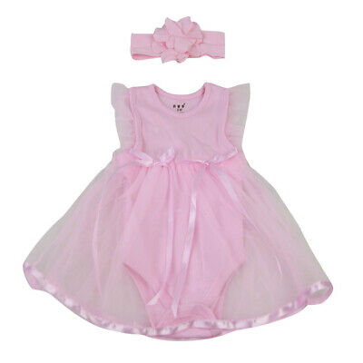 Handmade Baby Dolls Clothes Pink Romper Dress for 22''-23'' Reborn Girl Doll