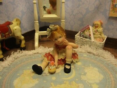 OOAK Miniature Dollhouse Girl ~Callie & Her Cupcake~ 1:12  Dollhouse Miniature