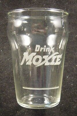"Vintage ""Drink Moxie"" Soda Fountain Counter Glass"