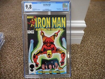 Iron Man 185 cgc 9.8 Marvel 1984 BLACK cover Nick Fury Aquarius MINT WHITE pages