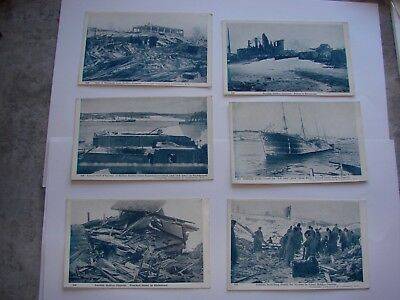 "Canada WW1 CEF Military Postcard Lot # 2 ""The Halifax Explosion"" x 6"
