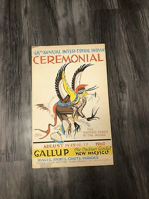 "Inter-Tribal Indian Ceremonial Poster 48th 1969 Gallup New Mexico 22""x14"""