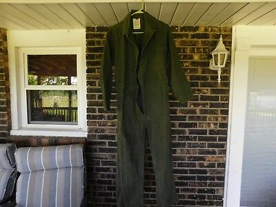 Army Mens Cotton Type 1 Sateen Coveralls Size Small