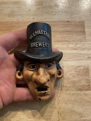 Cast Iron Bottle Opener Ole Masters Brewery Antique Beer Style g/vg patina paint