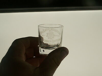 Anti Cholerical Bitters F. Sixta & Sons Manitowoc WI Unlisted Etched Shot Glass